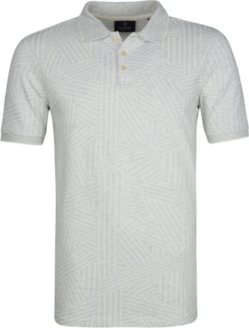 Scotch and Soda Polo Shirt Print Grey