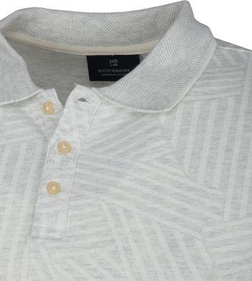 Scotch and Soda Polo Shirt Print Grey