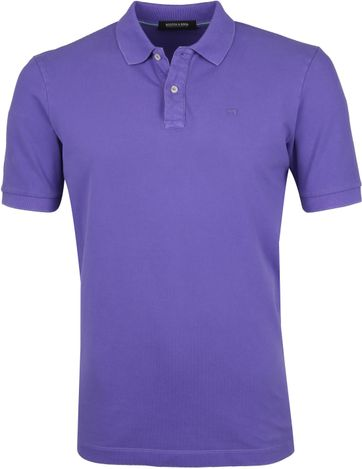Scotch and Soda Polo Shirt Purple