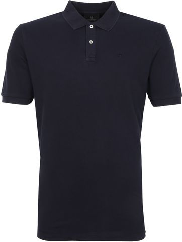 Scotch and Soda Poloshirt Garment Dye Dunkelblau