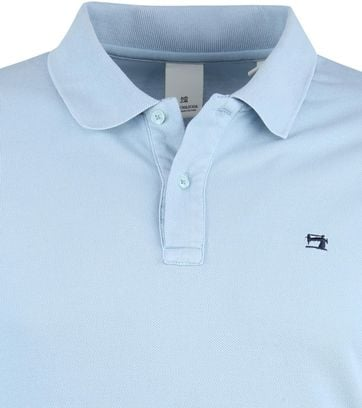 Scotch and Soda Poloshirt Hellblauw