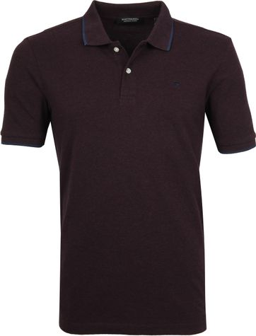 Scotch and Soda Poloshirt Melange Dark Red
