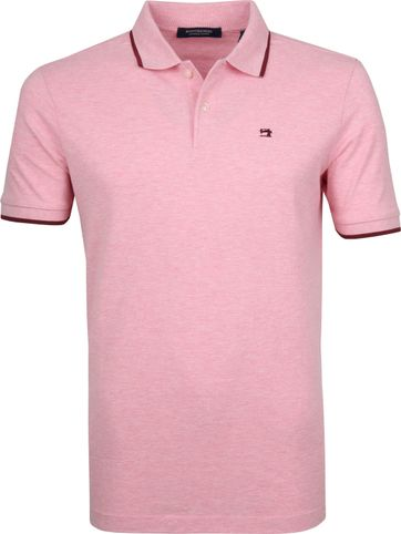 Scotch and Soda Poloshirt Melange Pink