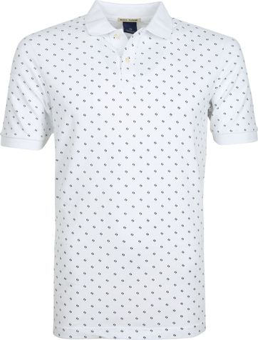 Scotch and Soda Poloshirt Printed White