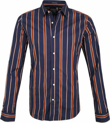 Scotch and Soda Shirt Dark Blue Stripes