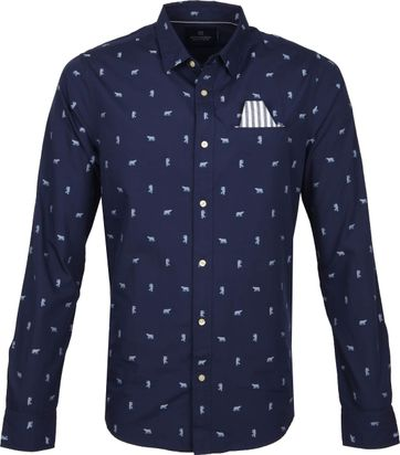 Scotch and Soda Shirt Design Navy