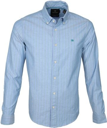Scotch and Soda Shirt Stripes Blue