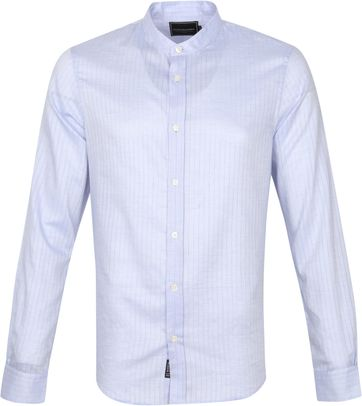 Scotch and Soda Shirt Stripes Light Blue