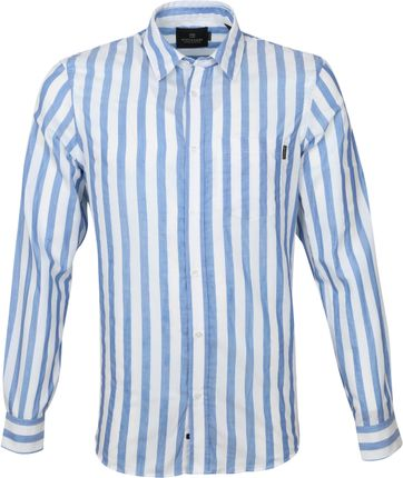 Scotch and Soda Shirt Yarn-Dye Stripes Blue