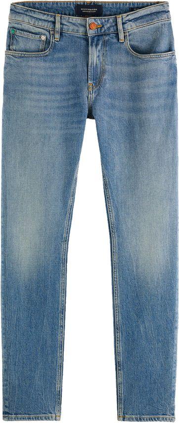 Scotch and Soda Skim Jeans Born Again Blau