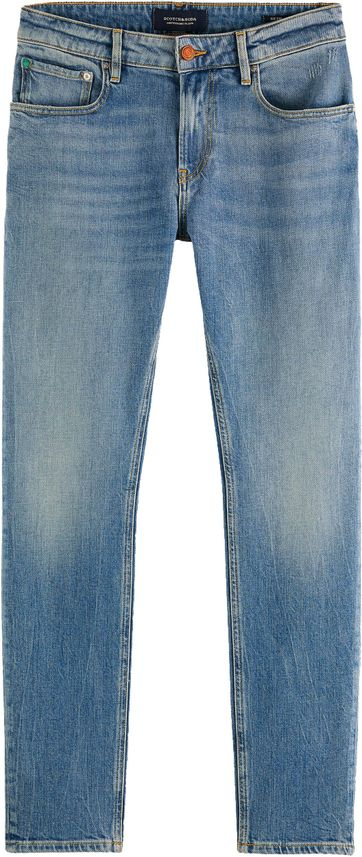 Scotch and Soda Skim Jeans Born Again Blauw