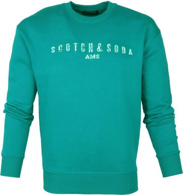 Scotch and Soda Sweater AMS Logo Groen