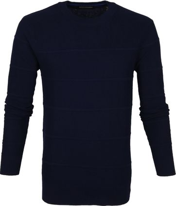 Scotch and Soda Sweater Dunkelblau Streifen