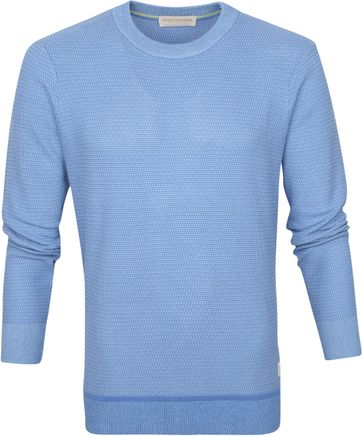 Scotch and Soda Sweater Gestrickt Blau