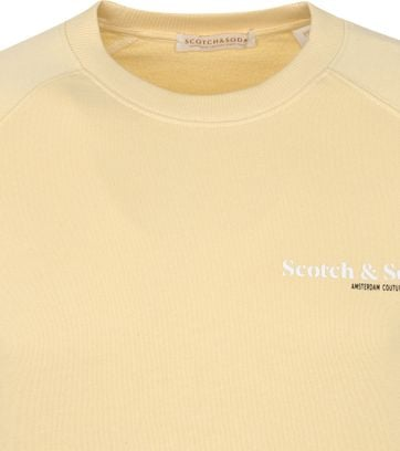 Scotch and Soda Sweater Logo Geel