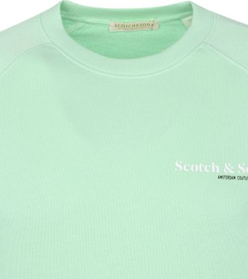 Scotch and Soda Sweater Logo Groen