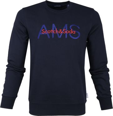 Scotch and Soda Sweater Logo Navy