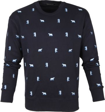 Scotch and Soda Sweater Polar Bear Navy