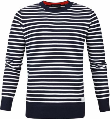 Scotch and Soda Sweater Streifen Dunkelblau