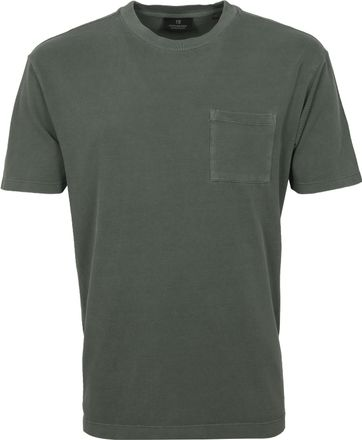 Scotch and Soda T Shirt Garment Dye Army Green