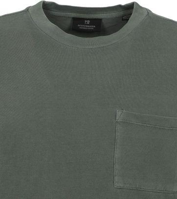 Scotch and Soda T-Shirt Garment Dye Army Green