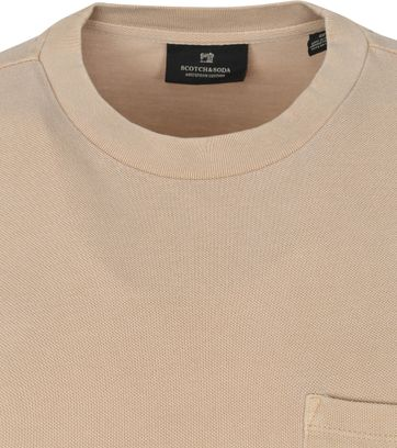 Scotch and Soda T-Shirt Garment Dye Beige