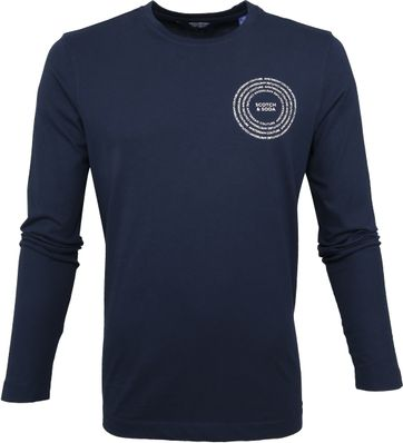 Scotch and Soda T-shirt Longsleeve Navy