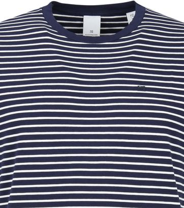 Scotch and Soda T-shirt Navy Strepen