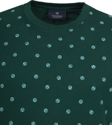 Scotch and Soda T-Shirt Print Dark Green
