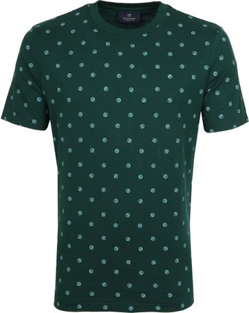 Scotch and Soda T-Shirt Print Donkergroen