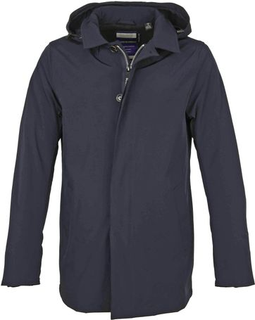 Scotch and Soda Trench Parka Jacket Navy