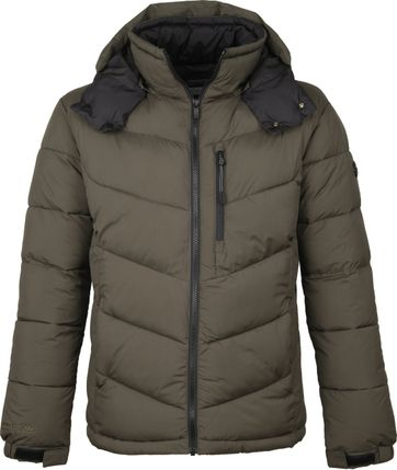 Scotch and Soda Winterjas Donkergroen
