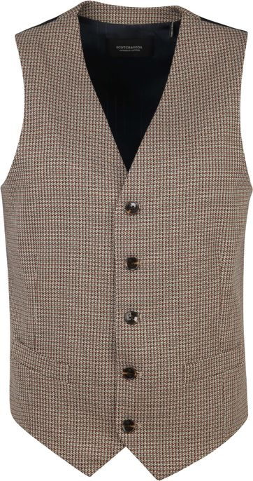 Scotch and Soda Yarn-Dyed Waistcoat Beige