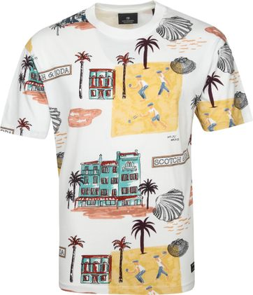 Scotch & Soda T Shirt Beach Multicolour