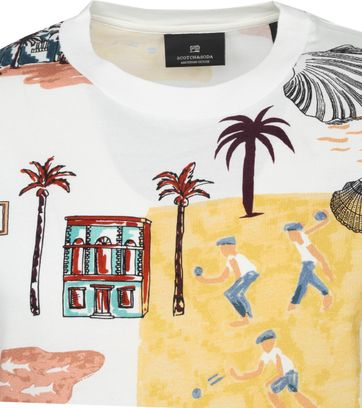 Scotch & Soda T-Shirt Beach Multicolour