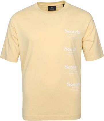 Scotch & Soda T Shirt Logo Muster Gelb