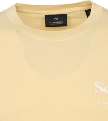Scotch & Soda T-Shirt Logo Patroon Geel
