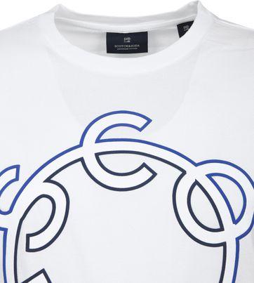 Scotch & Soda T-Shirt Logo Weiß
