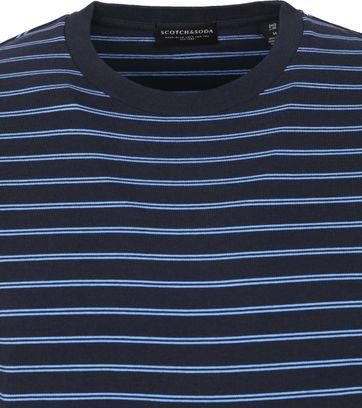 Scotch & Soda T Shirt Streife Navy