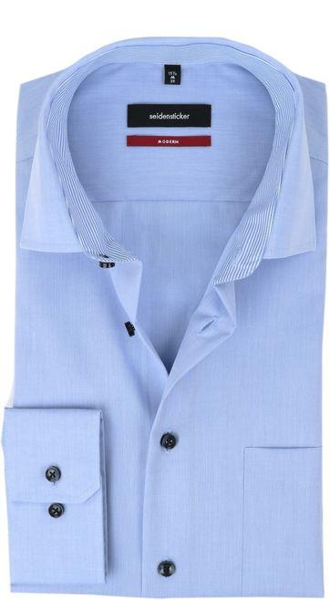 Seidensticker Bügelfrei Hemd Modern-Fit Blau