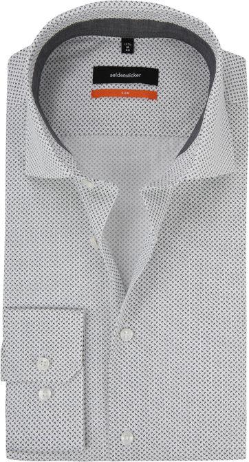 Seidensticker Grau Hemd Dessin