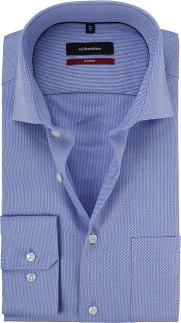 Seidensticker Hemd Blau Modern-Fit