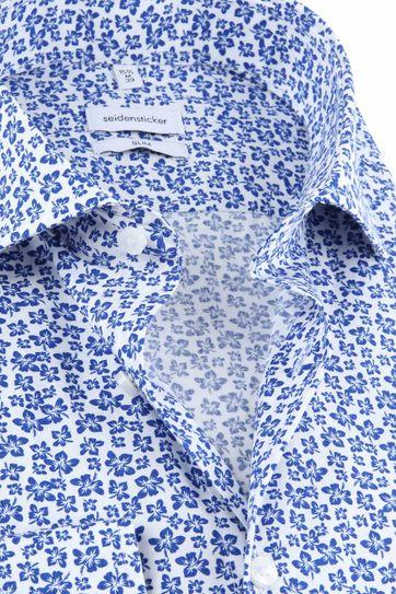 Seidensticker Hemd Bloemen Blauw