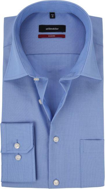 Seidensticker Hemd Bügelfrei Modern Blau