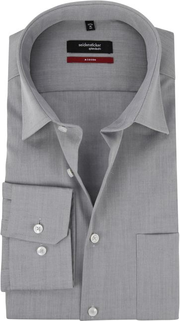 Seidensticker Hemd Bügelfrei Modern Grau