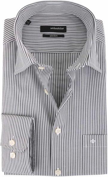 ARNE: Schwarzer Pullover mit weißen Streifen