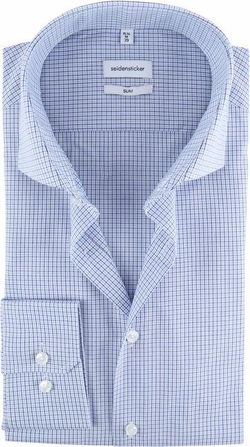Seidensticker Hemd Diamants Blau