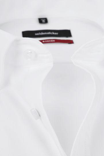 Seidensticker Hemd Kurzarm Bügelfrei Modern Uni Weiß