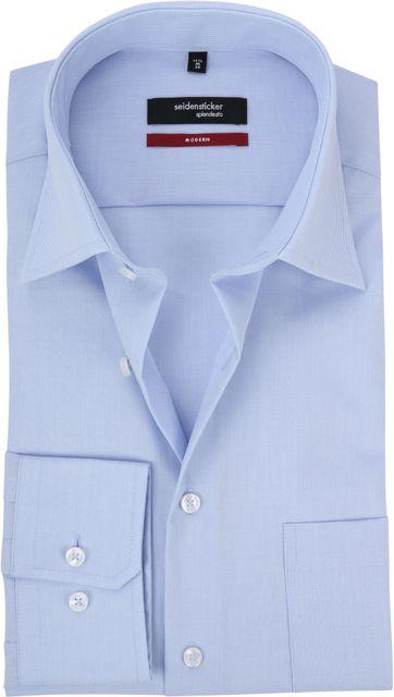 Seidensticker Hemd Modern Bügelfrei Himmelblau