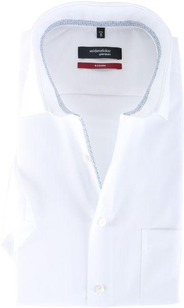 Seidensticker Hemd Modern Fit Korte Mouw Wit